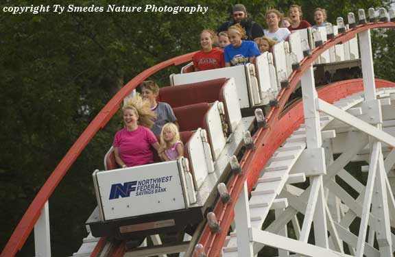 The Roller Coaster at the Arnolds Park Amusement Park, Lake Okoboji Iowa